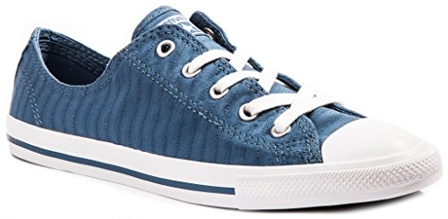 Converse Chucks 555889C Blau Chuck Taylor All Star Dainty Perforated Stripe Canvas OX Blue Coast, Groesse: 35.5 EU