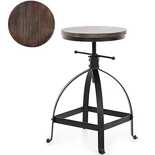 VINTAGELIVING Vintage Bar Stool Swivel Coffee Kitchen Dining Chair Counter Height Adjustable 25″ Industrial Style Review