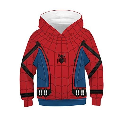 Tsyllyp Boys Girls Kids Spider-Man 3D Print Hoodies