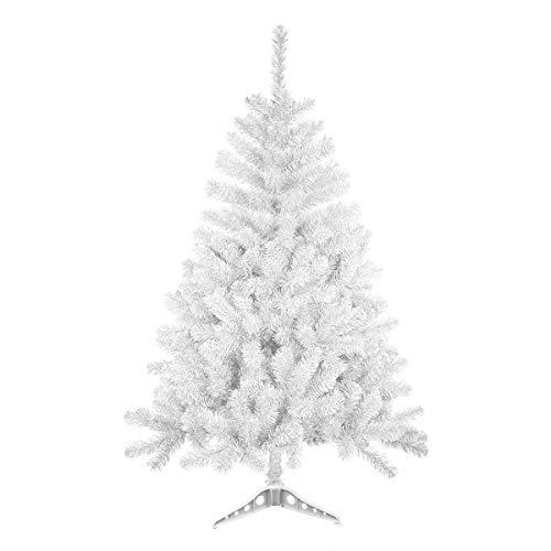 Árbol de Navidad Blanco Artificial Soporte Plástico 120-240 cm