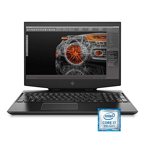Omen GeForce RTX Studio 2019 15-Inch Laptop, 9th Gen Intel Core i7-9750H, NVIDIA GeForce RTX 2060 (6 GB) W/HDR 400 True Black, 32 GB RAM, 1 TB SSD, Windows 10 Pro (15-dh0015nr, Shadow Black) (Renewed)