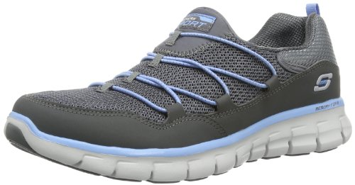 Skechers Synergy Loving Life, Sneakers Basses femme Charcoal/Blue