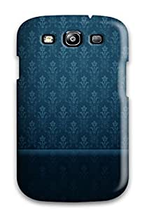 Rugged Skin Case Cover For Galaxy S3- Eco-friendly Packaging(blue Vintage Pattern)