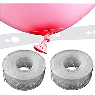 KINGGRID Balloon Decorating Strip, 16.5', for Party (2 Pack), Clear