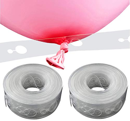 KINGGRID Balloon Decorating Strip, 16.5', for Party (2 Pack), Clear]()