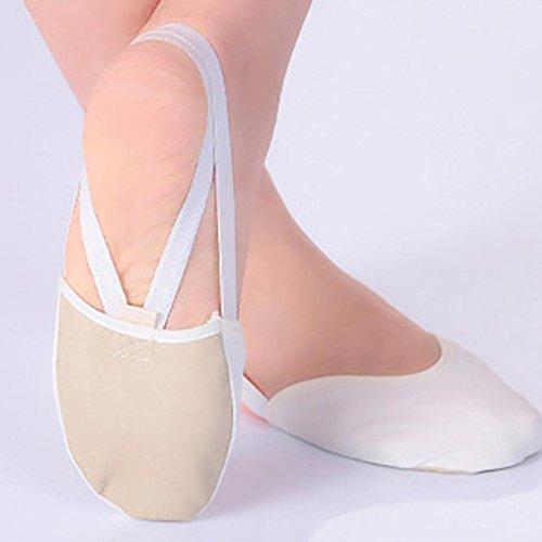 En De Cuir Pointe Kaki Semelle Semi Rythmique Gymnastique Ballet Danse Lyrique Danse Chaussures SxwYqdRS