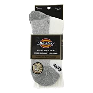 Dickies 8025 Steel Toe Crew Sock