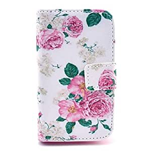 HJZ Rose Flower Pattern PU Leather Cover Case with Stand for Samsung Galaxy Ace 3 S7272/S7275