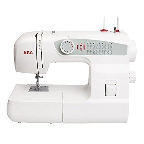 AEG 123 - Máquina de coser (Blanco, Máquina de coser semiautomática, Costura,