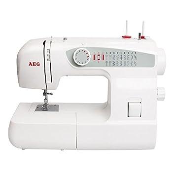 AEG 123 - Máquina de coser (Blanco, Máquina de coser semiautomática, Costura, Giratorio, 800 RPM, Electromecánica): Amazon.es: Hogar
