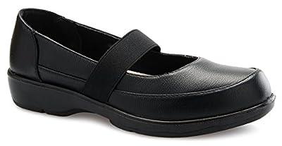 OLIVIA K Women's Easy Slip On Work Office Uniform Resistant Flatform Daily Life Shoes