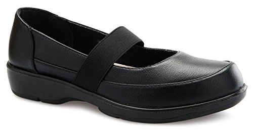 OLIVIA K Womens Easy Slip On Work Office Uniform Resistant Flatform Daily Life Shoes