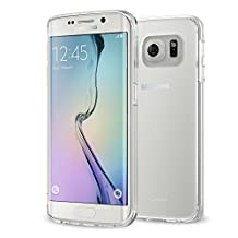 Galaxy S6 Edge Case - MoKo [Scratch Resistant] Halo Series Back Cover with TPU Anti drop & Scratch Technology Corners + Clear Back Panel Bumper Cover for Samsung Galaxy S6 Edge 2015, Crystal Clear