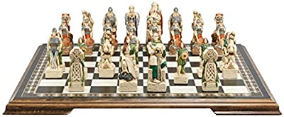 Celtic and Viking Chess Set - Handmade and Hand Painted - 4.5 Inches