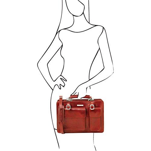 en main cuir modèle Leather 4 Rouge Sac Grand à TL141269 Rouge Tuscany Tania YZx8IXwq8C
