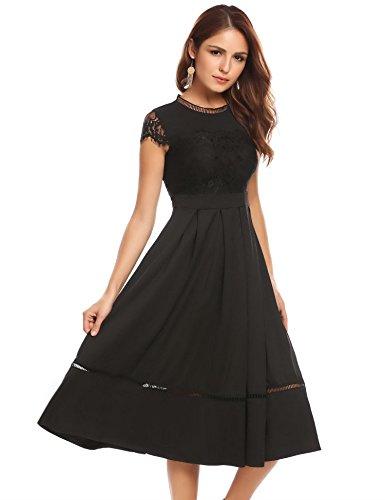 long black empire waist dress - 2