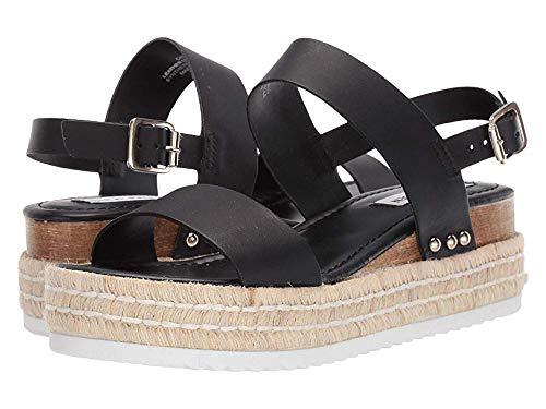 (Steve Madden Women's Catia Wedge Sandal Black Leather 11 M US )