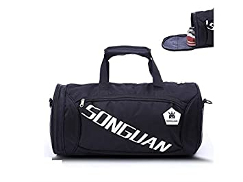 AGOPO Rucksack Large Capacity Gym Bag Sports Holdall Travel Weekender Duffel  Bag with Shoe Compartment for 90af950b30
