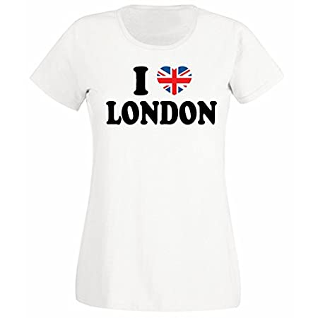 Flip Womens I Love London Union Jack Heart T-Shirt 41jBO 2BF5cYL