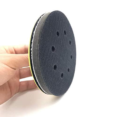 5 Hook /& Loop 8-Holes Foam Interface Buffer Backing Pad