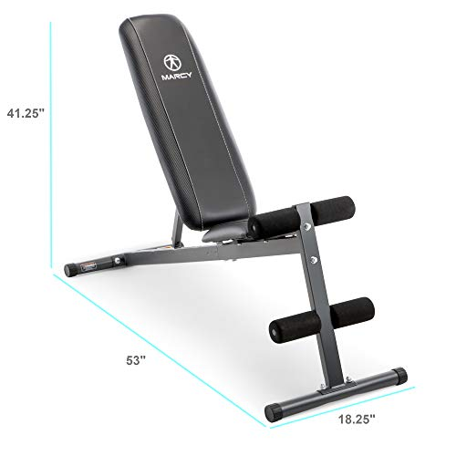 Marcy Exercise Utility Bench for Upright, Incline, Decline, and Flat Exercise SB-261W (Marcy Weight Bench Set)