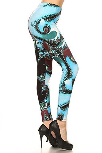 R747-OS Paisley Splash Print Fashion Leggings