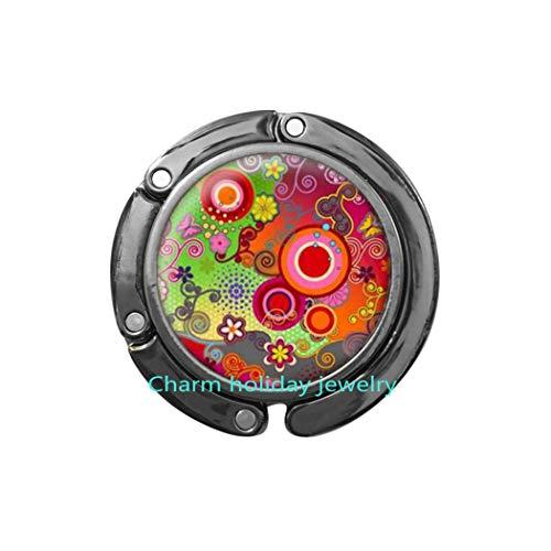 Multicolored Purse Hook,Gift for her Dainty Jewelry,Flower Bag Hook Purse Hook,Dainty Filigree Purse Hook,Women Jewelry Gift-#113