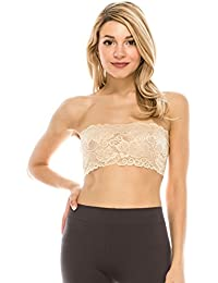 944d307396f18 Seamless Lace Reversible Bandeau Tube Top (Made Love in The USA)