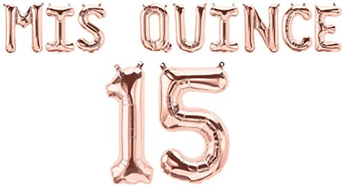 (MIS Quince 15 Balloons for Quinceanera Birthday Party Decorations)
