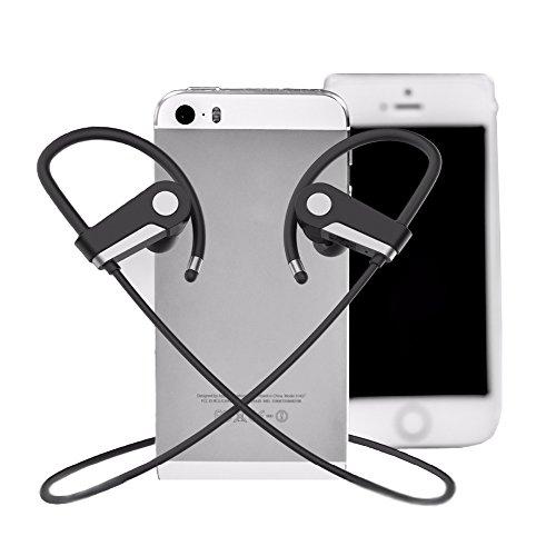 Businda Bluetooth Headphones Over Ear, Sweatproof Wireless Headset Stereo Music for Cellphones Tablets Smartphones by Businda (Image #5)