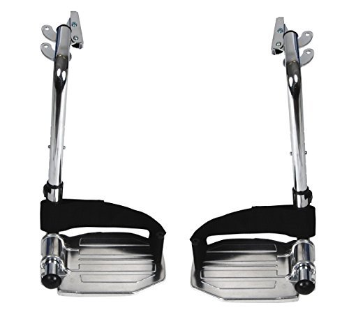 Drive Medical Swing Away Footrests with Aluminum Footplates, Black by Drive Medical