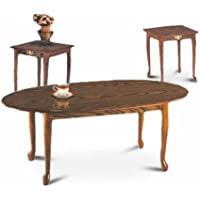 3 Piece Oak Coffee Set