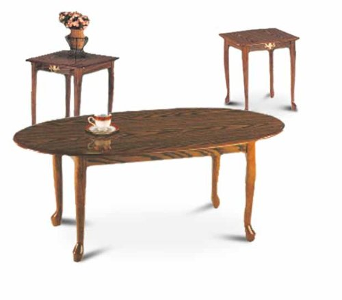 (3 Piece Oak Coffee Set)