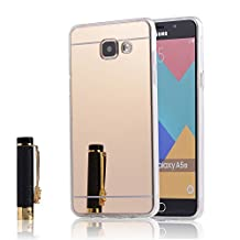 Galaxy A500 TPU Case,IVY Mirror Design with Mirror Shockproof and Scratch-Resistant TPU Case Cover For Samsung Galaxy A5 (2015) - Gold
