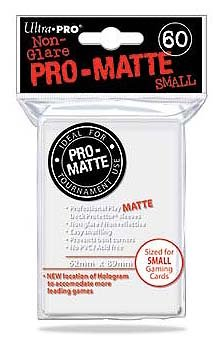 Ultra Pro PRO-Matte Small Deck Protector Sleeves for Yu-Gi-Oh and Cardfight Vanguard - White (60 ct.)