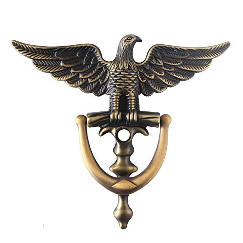 Eagle's Head Door Decor Zinc Alloy Door Knocker,Solid Brass Oil Rubbed Bronze Finish Door Knocker (Copper)