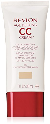 Tinted Paraben Moisturizer Free (Revlon Age Defying CC Cream, Light Medium/020, 1 Ounce)