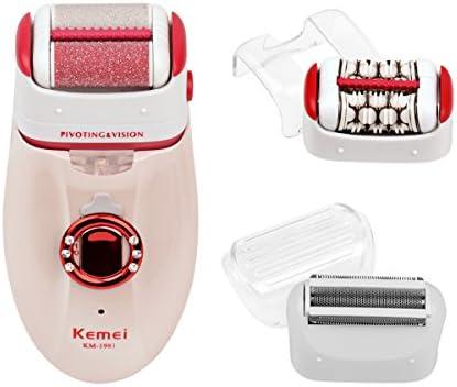 Ckeyin – 3-en-1 Depiladora lavable Micro Pedicura femenino ...