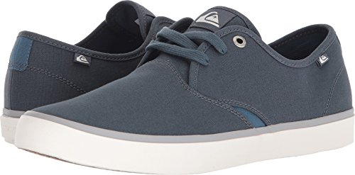 Blue Grey White Mens Sneakers - Quiksilver Men's Shorebreak Shoe Sneaker, Grey/Blue/White, 8(41) M US