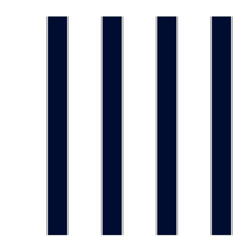 York Wallcoverings ZB3419 Wide Stripe Pinstripe Wallpaper, White/Navy/Steel Gray (Bold Stripe Wallpaper)
