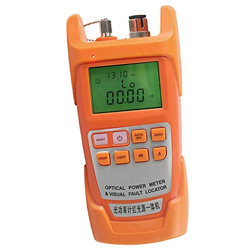 nouler Juler Advanced Handheld Optical Power Meter with 30Mw Visual Fault Locator and Fiber Optic Cable Tester. -70 to + 10Dbm. - Oranges