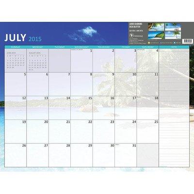 2016 Tropical Beaches Academic July June Desk Blotter Calendar