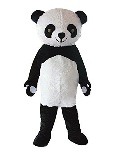 Deluxe Plush Panda Mascot Costume Panda Costume Adult Halloween Fancy Dress (Medium) ()