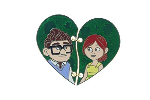 Disney Pixar Up Carl and Ellie Two Piece Heart Pin