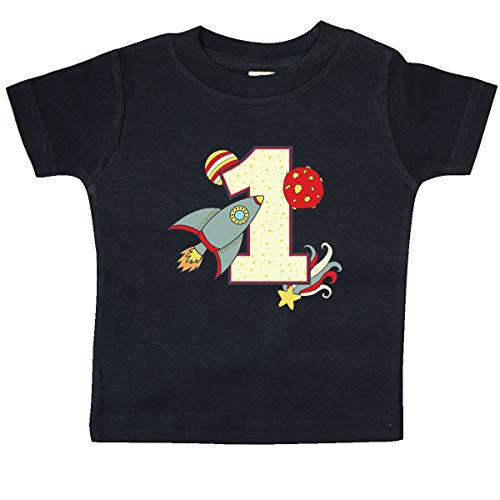 inktastic - 1st Birthday Outer Space Theme Baby T-Shirt 24 Months Black 2196a -