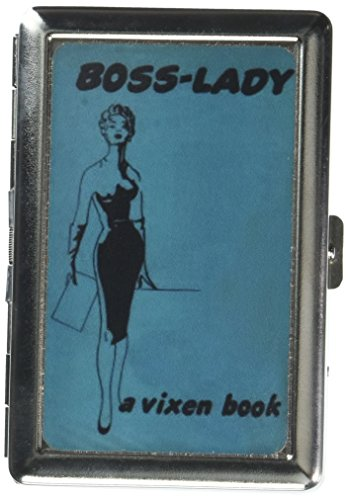 Boss Lady Vintage Vixen Woman Double-Sided Cigarette Case, ID Holder, Wallet with RFID Theft Protection