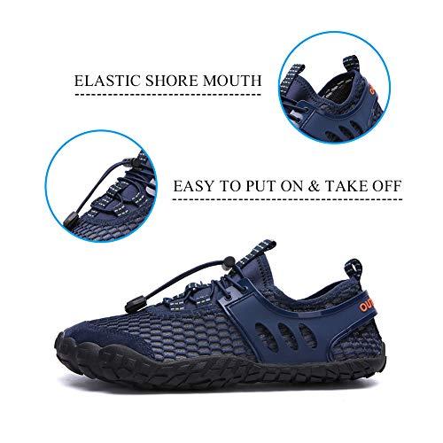 d226c967015f2 FEIFAN Women Men Water Shoess Hiking Running Shoes Barefoot Quick-Dry Aqua  Yoga Shoes Blue 42