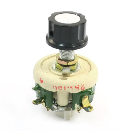 Uxcell a13122300ux0177 Single Turn Resistor 25W 150 Ohm Volume Control Ceramic Disk Rheostat