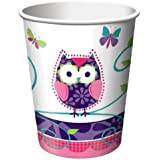 8-Count 9-Ounce Hot/Cold Beverage Cups, Owl Pal