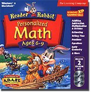 Learning Company Reader Rabbit Personalized Math 6-9 Deluxe 29 Interactive Games Popular